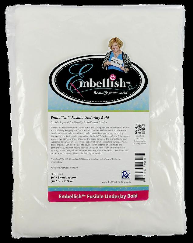 Embellish® Fusible Underlay Bold-White EFUB-303